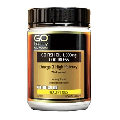 紐西蘭代購 Go Healthy 1500mg  魚油兩罐 萊爾運超取[GHY09]