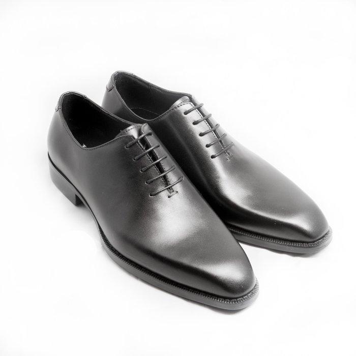Whole Cut牛津鞋:手工上色小牛皮真皮男鞋皮鞋-醇黑色-免運費-[LMdH直營線上商店]E1B27-99