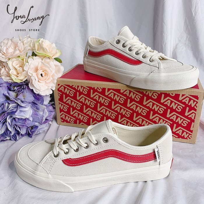 【Luxury】Vans Blackball White Red black 休閒板鞋 男女鞋 情侶鞋 紅線 藍線 正品