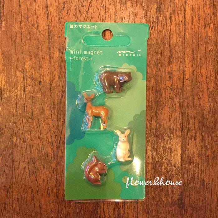 Zakka HOME。日本帶回。動物造型。熊兔松鼠小鹿。強力磁鐵。冰箱貼。4入。台北西門歡迎自取。辦公室療癒小磁鐵。現貨