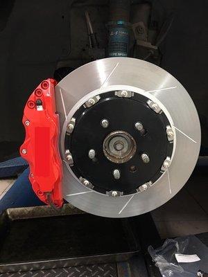 【優質輪胎】客製化鍛造卡鉗+330mm浮動碟盤(WISH ELATRA SANTA FE KICKS SENTRA)三重