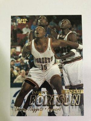 Danny Fortson #287 Rookie 1997-98 Fleer 新人卡