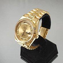 順利當鋪 Rolex/勞力士  完全原裝實心新款118238型18K原鑲羅馬字多層鑽男錶