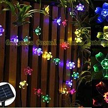 華麗購:太陽能LED聖誕燈 50顆LED桃花燈 聖誕樹造景燈 夜景裝飾串燈/節日喜慶彩燈 星星燈