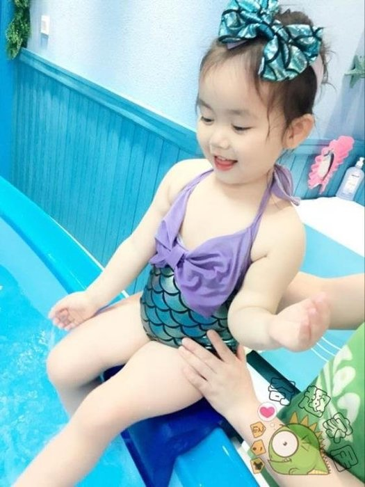 泳衣女童正韓兒童泳衣女孩公主連身嬰兒小寶寶可愛泳裝