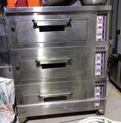 專鑫三層六板烤箱(二手)健民餐飲設備
