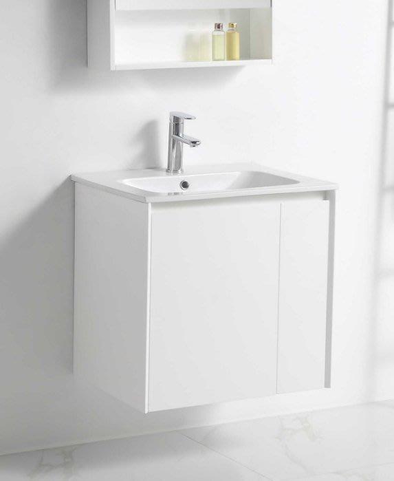 《E&J網》MooE V2-60WH 防水發泡板 浴櫃 + 臉盆 60cm臉盆鋼烤浴櫃組 雙開門 詢問另有優惠