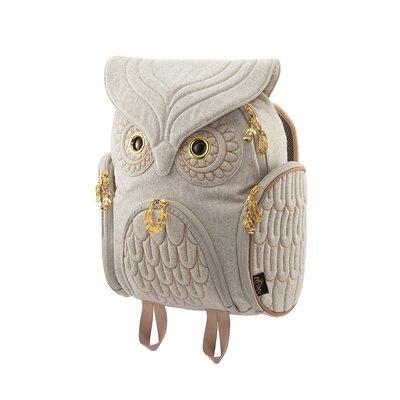 羊毛貓頭鷹後背包(M) ,實品拍攝有店面,香港Morn Creations授權販售~最特別的禮物都在奧爾思~