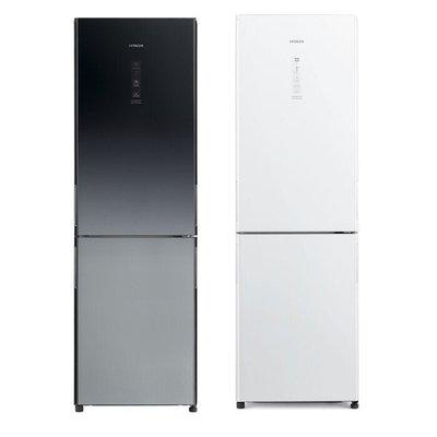 來電享優惠 【HITACHI 日立】313L 變頻琉璃兩門冰箱-共兩色 RBX330 琉璃白/漸層琉璃黑