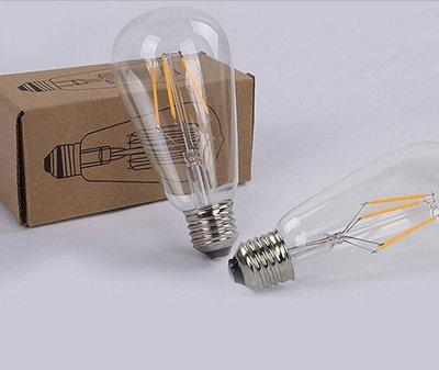愛迪生復古燈泡LED驚嘆號燈泡仿鎢絲愛迪生燈泡 愛迪生燈泡 LED ST64