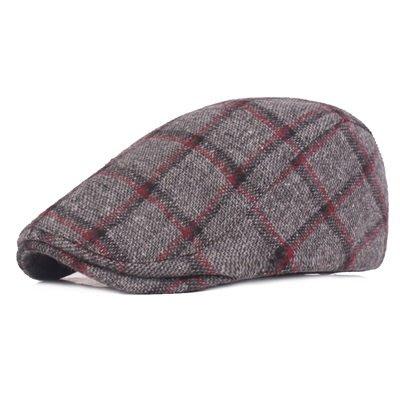 貝雷 帽 鴨舌帽-英倫格紋秋冬溫暖男女帽子3色73tv40[獨家進口][米蘭精品]