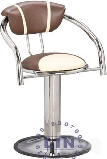 【品特優家具倉儲】A318-11吧台椅櫃檯椅810固定電鍍圓盤吧台椅