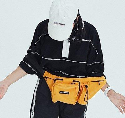 多拉鍊防水複古街頭潮牌單肩斜挎包男女情侶腰包胸包運動包