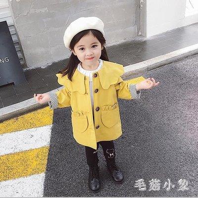 中大尺碼 女童風衣2018新款兒童秋季中長款韓版上衣外套 ys7055