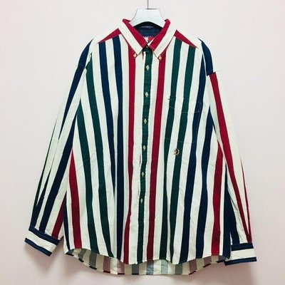 ➿MUFTI.852 UNIQUE-VINTAGE➿VINTAGE TOMMY HILFIGER MULTICOLOURED SHIRT