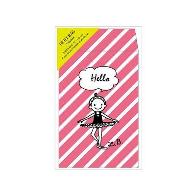 芭蕾小棧生日畢業表演禮物日本進口Little Ballerina可愛文具日式紅包袋粉紅舞者小信封斜條紋