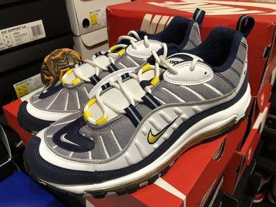 Nike Air Max 98 OG Tour Yellow 深藍白黃 鋼彈 640744-105 supreme