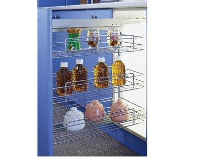 ╭☆魔法廚房☆F7020-1G系統櫥櫃內專用 三層調味瓶小側拉籃 屜頭式 (20-40公分 多種規格)