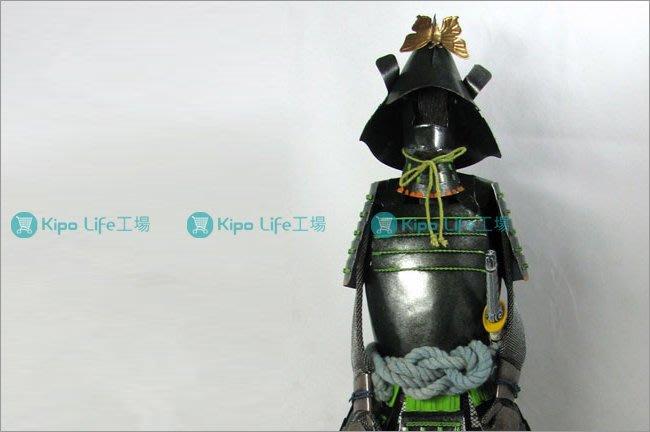 KIPO-餐廳飯店客廳擺飾裝潢日本東洋武士配刀盔甲模型-墨綠-RHA0171H0A