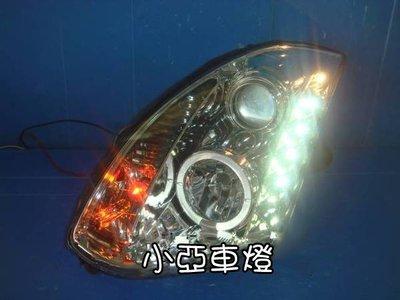 小亞車燈╠ 殺氣版 infiniti g35 g35 coupe R8 晶鑽 光圈 燈眉 魚眼大燈 16000