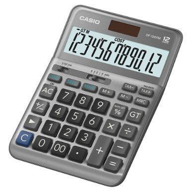 [ㄚ寶3C ] CASIO DF-120FM (灰色) 桌上型12位數、大型顯示幕、金屬面板、快速輸入、小數位數選擇鈕