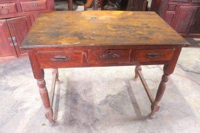 古早 書桌 桌面 一塊板 整塊板 台灣檜木 黃檜 舊傢俱