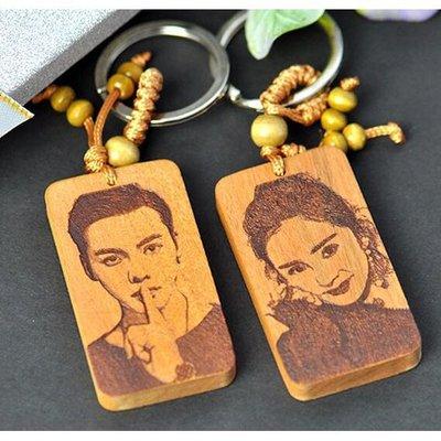 客製化鑰匙圈 客製化木質鑰匙圈 客製化 訂做鑰匙圈 訂做 送禮 單面印製下單區