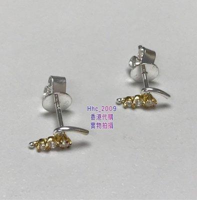 香港專櫃正品 Agnes b 16熱賣925銀精緻g字logo女款耳釘耳環