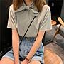 小香風 短袖T恤 時尚穿搭 蝴蝶結可愛圓領短袖t恤女網紅 韓版 寬松 顯瘦 半袖上衣打底衫潮