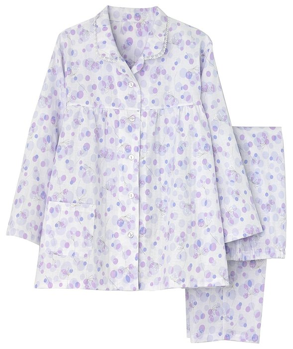日本Gunze郡是 純棉100% 女士長袖雙層紗布睡衣 涼感 冷氣房 夏天 女士成套睡衣 日本睡衣