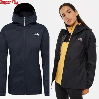 「i」【現貨】The North Face 黑 Quest Jacket 女 網格內裡 防風雨 連帽 夾克 風衣外套