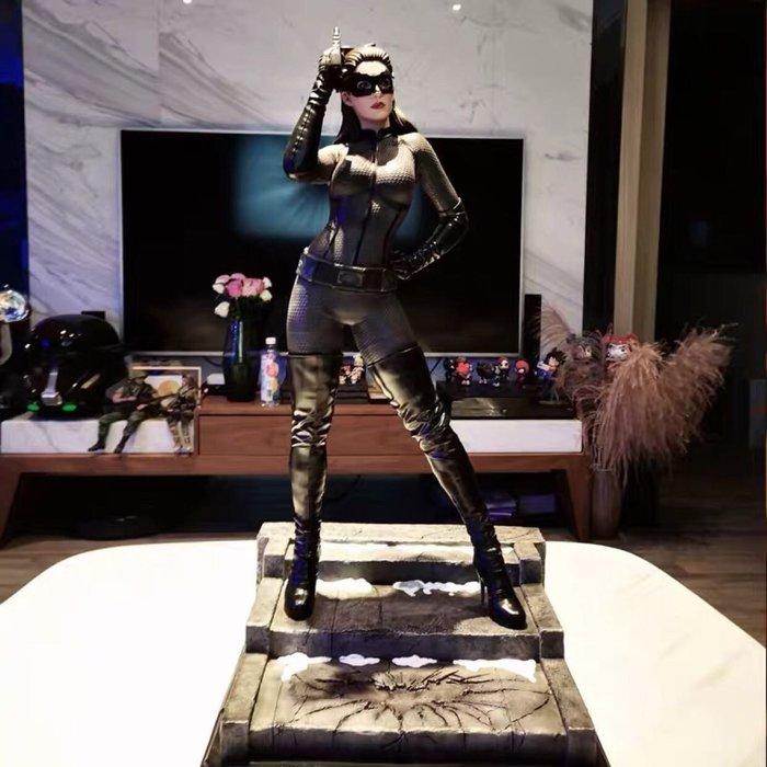 【預購】GK定制,黑暗騎士貓女手辦,蝙蝠俠貓女雕像,DC貓女系列GK模型