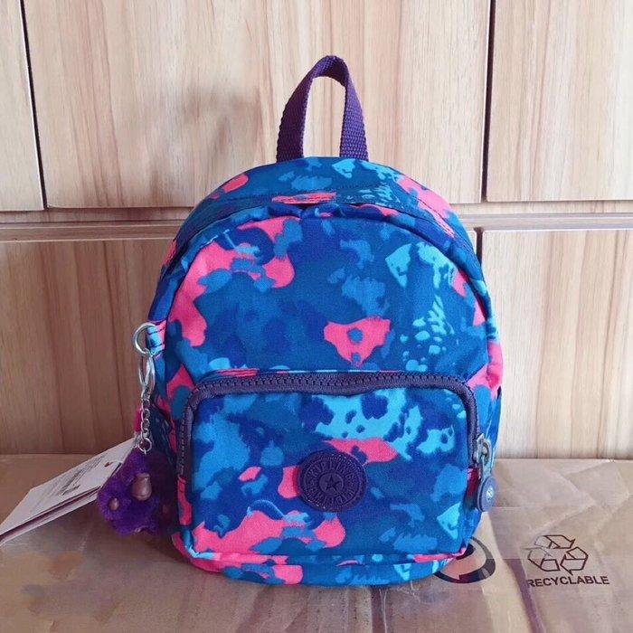 Kipling 猴子包 mini 12673 藍色迷彩狗 多用肩背斜背輕量雙肩後背包 小號 防水 限時優惠