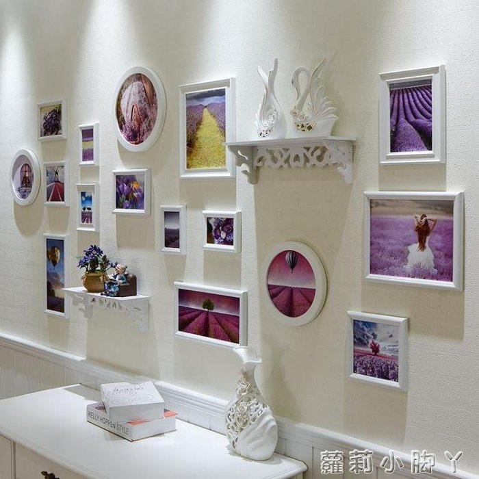 照片牆歐式裝飾相框牆創意組合相片框掛牆客廳臥室相框掛牆連身框 NMS蘿莉小腳ㄚ