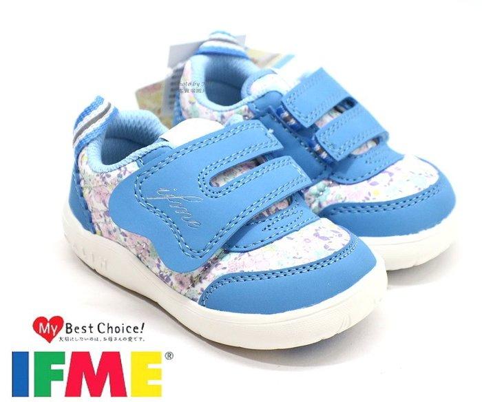 日本品牌IFME健康機能童鞋 ~幼童款學步鞋 /休閒鞋 (藍 IF22012302)