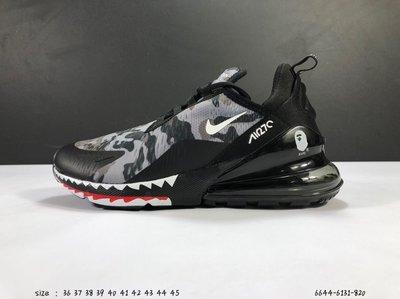 耐克 Nike 新款Air Max 270迷彩透氣輕便氣墊減震男女運動跑鞋 Size:36-45  編碼:6644-6131-820