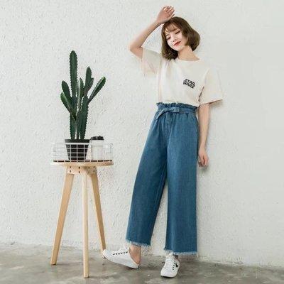 Ivy Shop 艾薇小館 日本 毛邊 闊腿 牛仔褲 超瘦毛邊 高腰 長褲 寬褲
