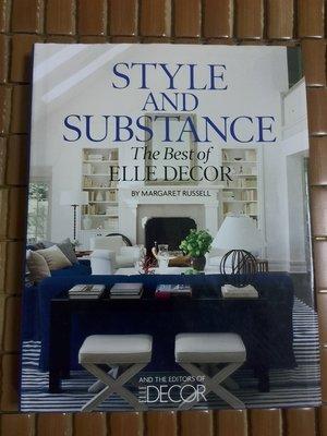 不二書店  Style and Substance: The Best of Elle Decor by Russell