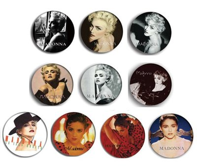 現貨 MADONNA True Blue pinback BADGE SET 1a 襟章 徽章 (一套10個)