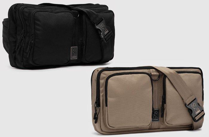 { POISON } CHROME MXD SEGMENT SLING BAG (大) 單肩隨身腰包 都會型態 簡約強固