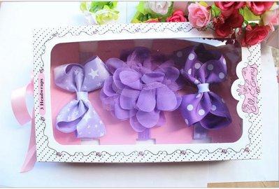 ☆草莓花園☆女童髮帶 時尚可愛花朵蝴蝶結頭飾 百搭款 花色組合6  附精美外盒