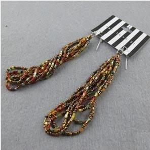 【飾界美~殺很大】歐美品牌 21 twentyone 多色串珠造形針式耳環~現貨一元起標