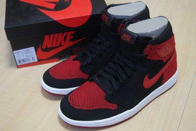 AIR JORDAN 1 RETRO HI FLYKNIT BG BRED編織黑紅Banned籃球鞋919702-001