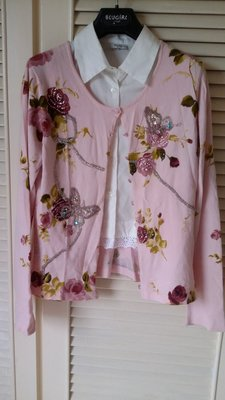 《Blumarine》精緻手工刺繡珠花開襟針織外套