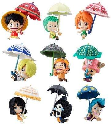 【動漫瘋】 日本正版 海賊王 Q版人型 盒玩 洋傘篇 sky!parasol ver 中盒10入販售 魯夫 索隆 喬巴