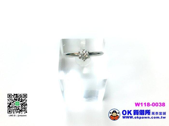 【OK質借所-萬泰當舖】Tiffany-鑽石戒指0.34CT-超低價