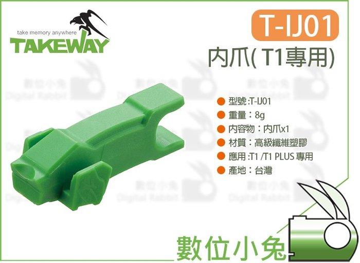 數位小兔【Takeway T1專用 T-IJ01 內爪】16~30mm 固定 T1 PLUS TIJ01 圓管 夾持