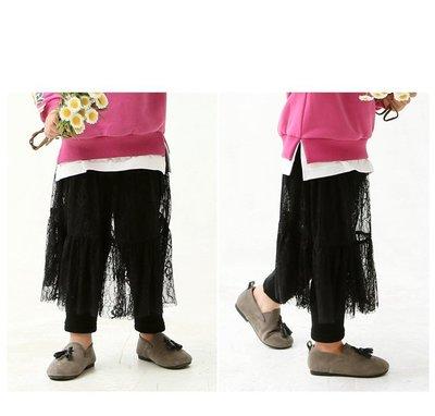 【Mr. Soar】 A182 冬季新款 韓國style童裝女童加絨蕾絲裙褲 現貨