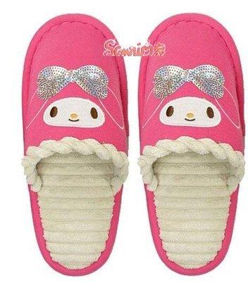 《東京家族》Melody美樂蒂粉紅色與桃紅色毛拖鞋二選一(現貨)