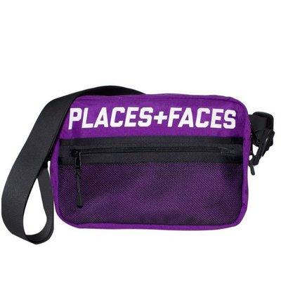 Places + Faces Pouch Bag 3M Logo經典肩背包反光側背包帆布小包 紫色 現貨【BoXhit】